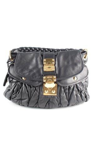 Miu Miu Handtasche schwarz-goldfarben Business-Look