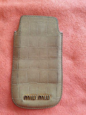 Miu Miu Étui pour téléphone portable beige clair-beige