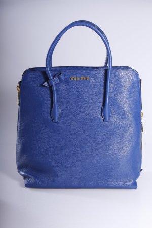 Miu Miu Henkeltasche Madras blau