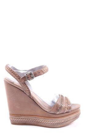 Miu Miu High Heel Sandaletten braun Casual-Look