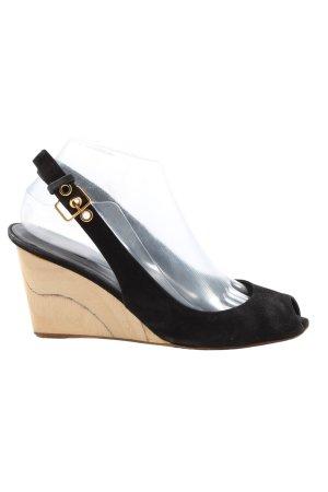 Miu Miu High Heel Sandaletten schwarz-creme Casual-Look