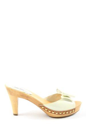 Miu Miu High Heel Sandaletten wollweiß-weiß Casual-Look