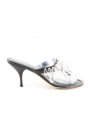 Miu Miu High Heel Sandaletten schwarz Elegant