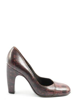 Miu Miu High Heels braun-schwarz Allover-Druck Elegant