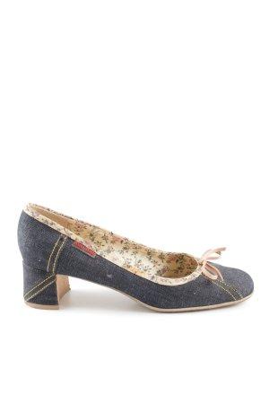 Miu Miu High Heels blau-nude Casual-Look