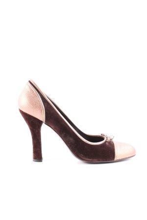 Miu Miu High Heels goldfarben-braun Business-Look