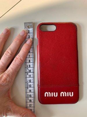 Miu Miu iPhone case 9er iPhone max Rot Leder