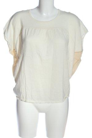 Miu Miu Kurzarm-Bluse nude-wollweiß Casual-Look