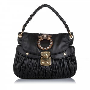 Miu Miu Leather Coffer Handbag