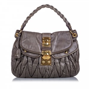 Miu Miu Leather Coffer Satchel