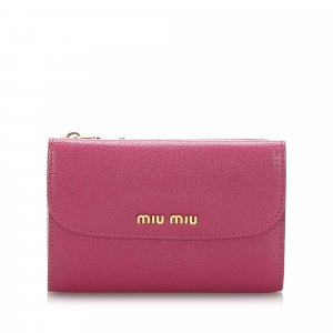 Miu Miu Leather Compact Wallet