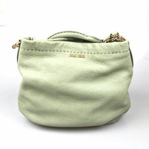 Miu Miu Sacoche vert cuir