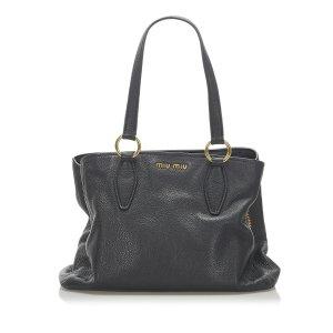 Miu Miu Tote black leather