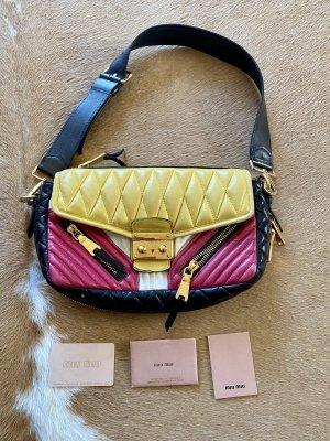 Miu Miu Leder Tasche Schultertasche bunt mit ID Card