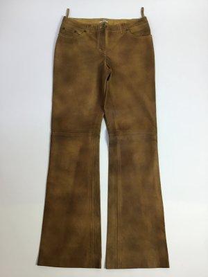 Miu Miu Pantalón de cuero marrón Cuero