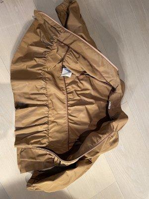 Miu Miu Bluzon jasnobrązowy Tkanina z mieszanych włókien