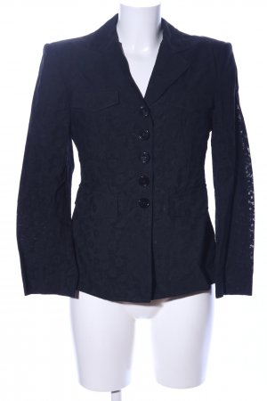 Miu Miu Long-Blazer schwarz Blumenmuster Business-Look