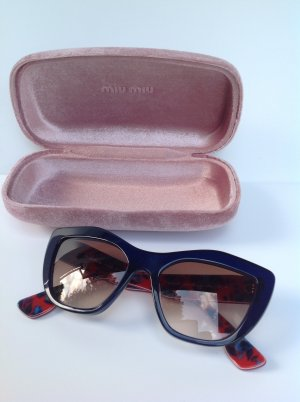 MIU MIU Luxus Sonnenbrille Dunkelblau/Rot Sunglasses lunettes