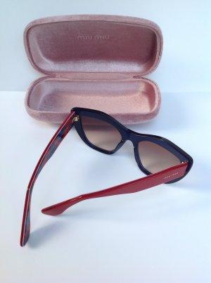 MIU MIU Luxus Sonnenbrille Dunkelrot/Blau Sunglasses lunettes