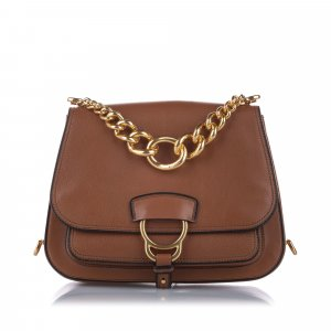 Miu Miu Madras Dahlia Leather Crossbody Bag