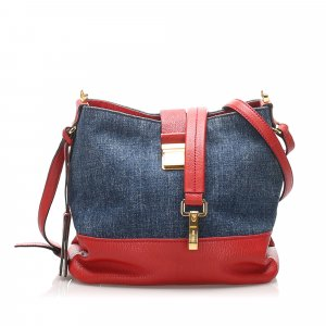 Miu Miu Madras Denim Crossbody Bag