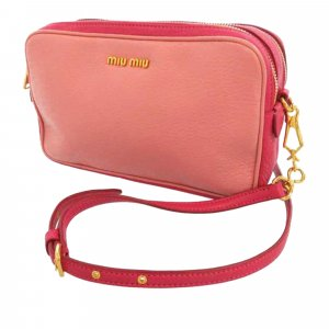 Miu Miu Madras Double Zip Crossbody Bag