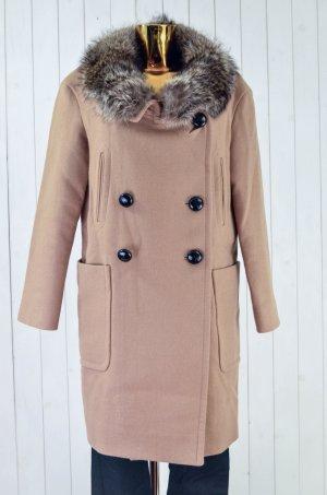 Miu Miu Heavy Pea Coat beige-brown wool