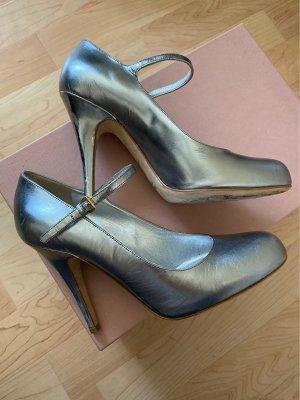 Miu Miu Mary Jane Schuhe in silber