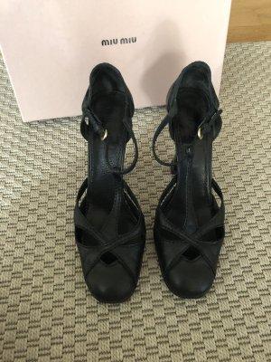 Miu Miu Escarpins Mary Jane noir