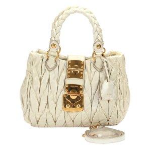 Miu Miu Satchel white leather