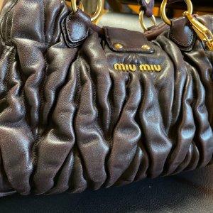 Miu Miu Satchel dark brown leather