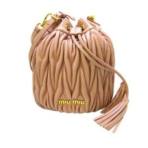 Miu Miu Bolsa de hombro rosa Cuero