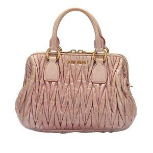 Miu Miu Satchel light pink leather