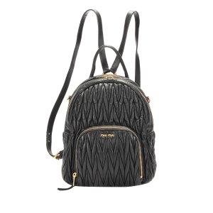 Miu Miu Backpack black leather