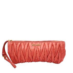 Miu Miu Bolso de mano rosa Cuero