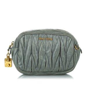Miu Miu Crossbody bag green leather