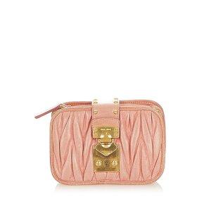 Miu Miu Crossbody bag light pink leather