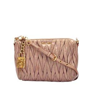 Miu Miu Matelasse Leather Crossbody Bag