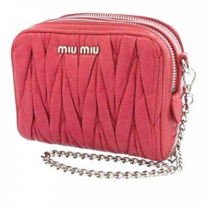Miu Miu Matelasse Leather Double Zip Crossbody Bag