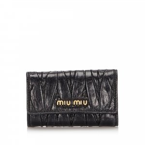 Miu Miu Matelasse Leather Key Holder