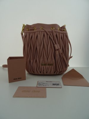 Miu Miu Matelassè Mini Bucket Bag Orchidea - Model 5BE014