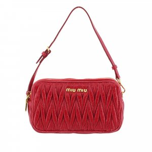 Miu Miu Mini Matelasse Leather Baguette