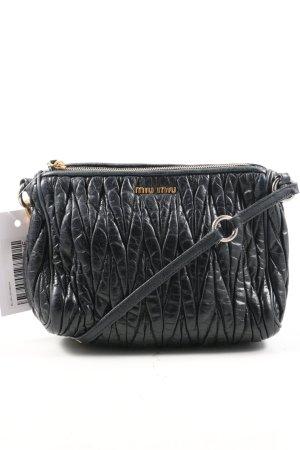 Miu Miu Minitasche schwarz abstraktes Muster Casual-Look