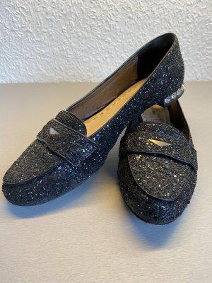 miu miu  miumiu Glitzer Slipper Loafer schwarz - 40