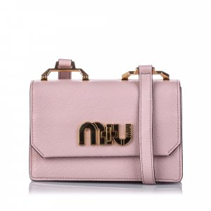 Miu Miu My Miu Leather Crossbody Bag