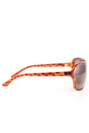 Miu Miu ovale Sonnenbrille hellorange-braun abstraktes Muster Casual-Look