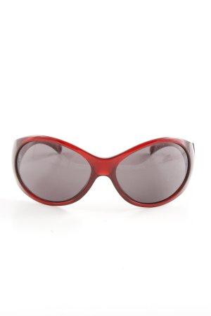 Miu Miu Occhiale da sole ovale rosso stile casual