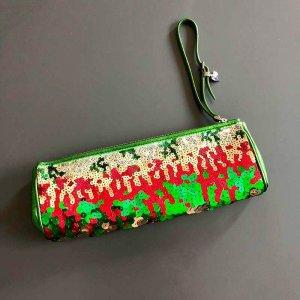 Miu Miu Pailletten Glitter Clutch Abendtasche Wristlet Balltasche