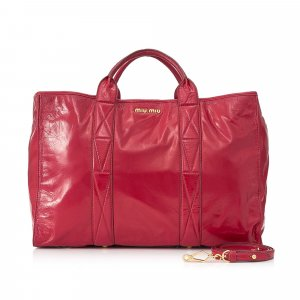 Miu Miu Sacoche rouge cuir