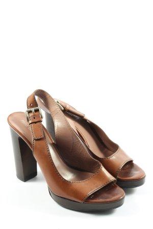 Miu Miu Sandales à talons hauts et plateforme brun style décontracté